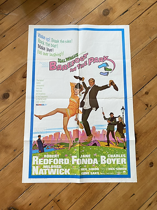Vintage 1967 Barefoot in the Park Movie Poster