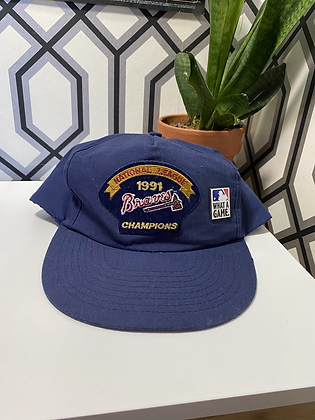 Vintage 1991 Braves Championship Snapback with Pin