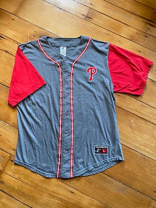 Vintage 90's Logo Athletic Philadelphia Phillies Jersey