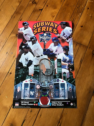 Vintage 2000 Yankees vs. Mets Subway Series Poster