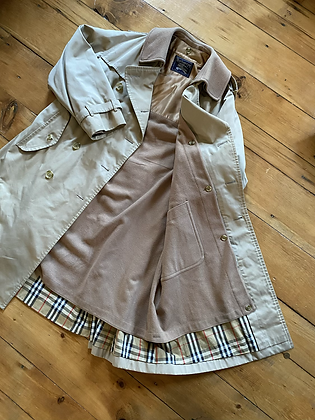 Vintage Burberry Double Layered Trench Down Coat
