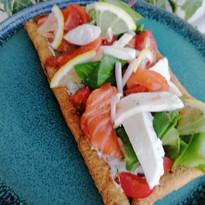 Tartine feuilleté au saumon,