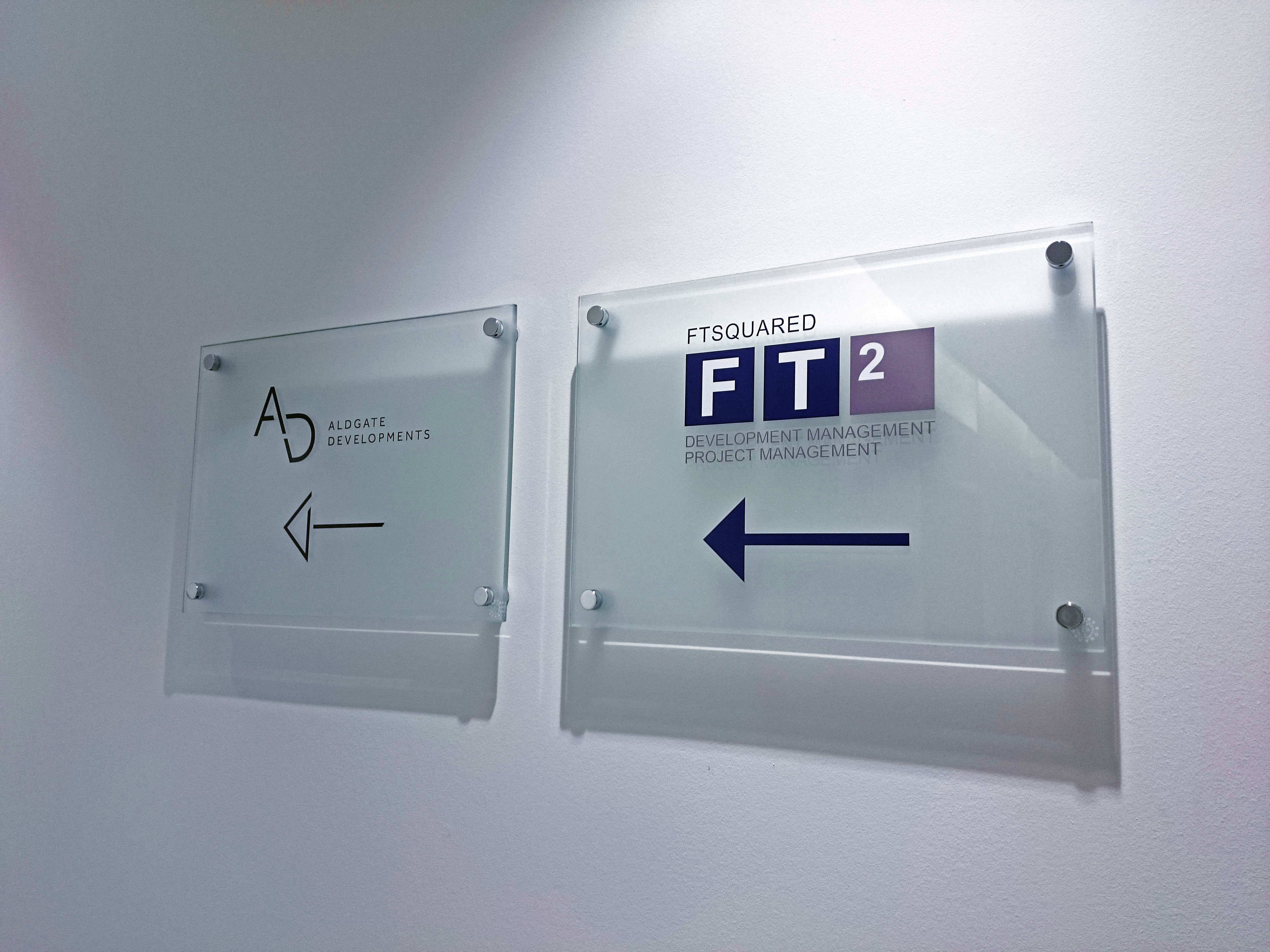 Office wayfinding signs - London