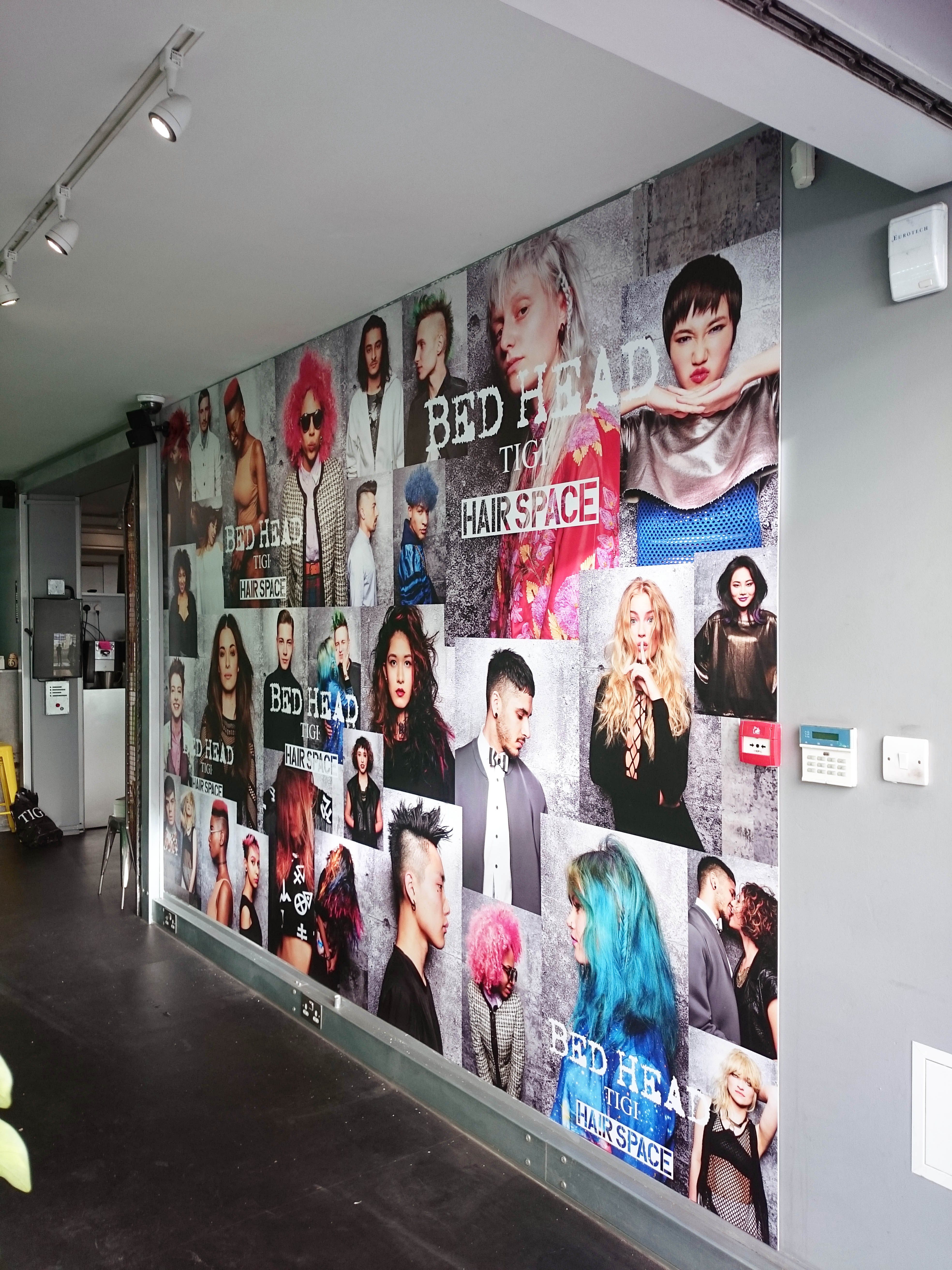 Retail wall graphic - London