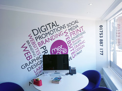 Retail wall graphic