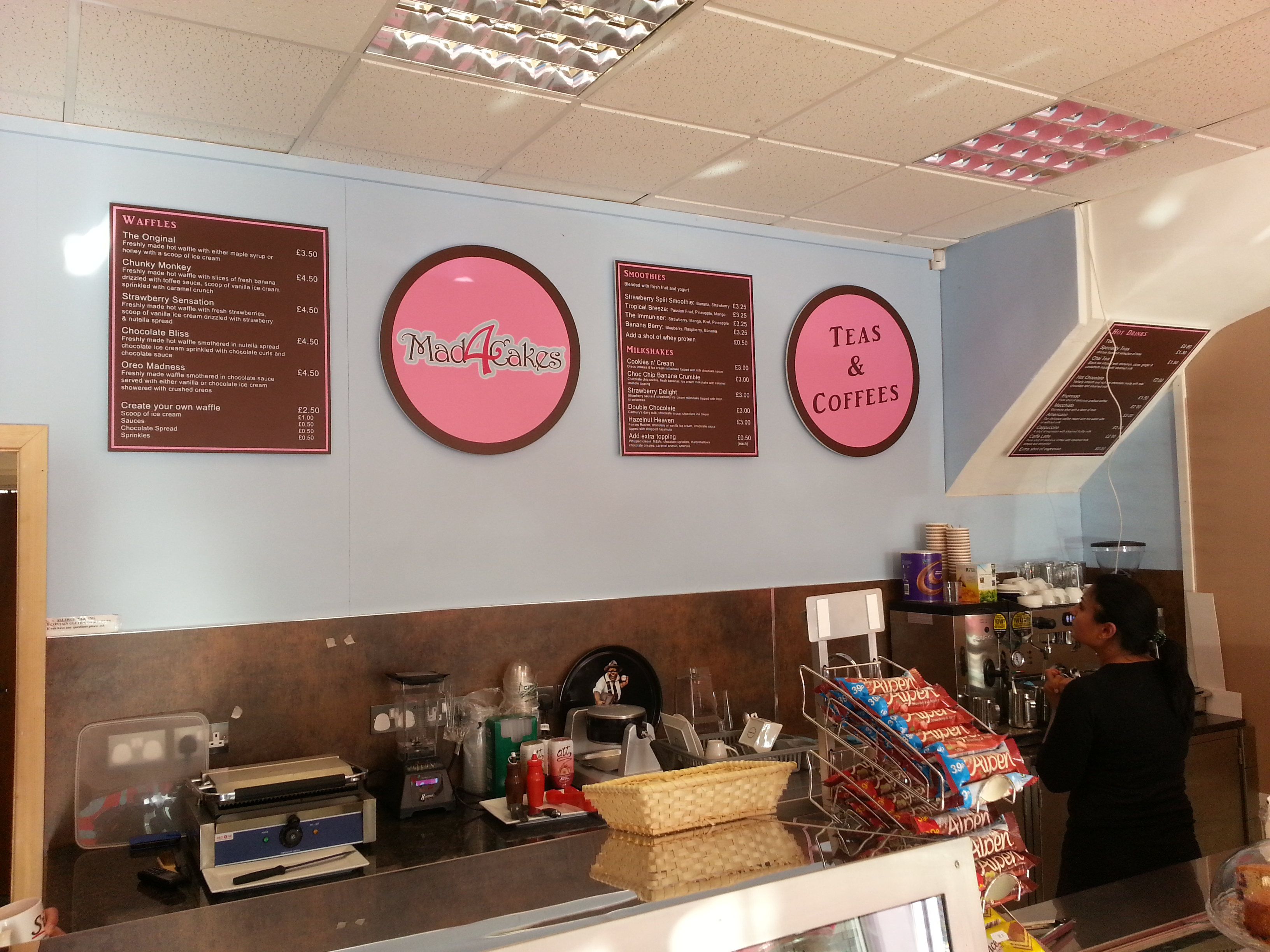 Wall mounted menus - Eastcote