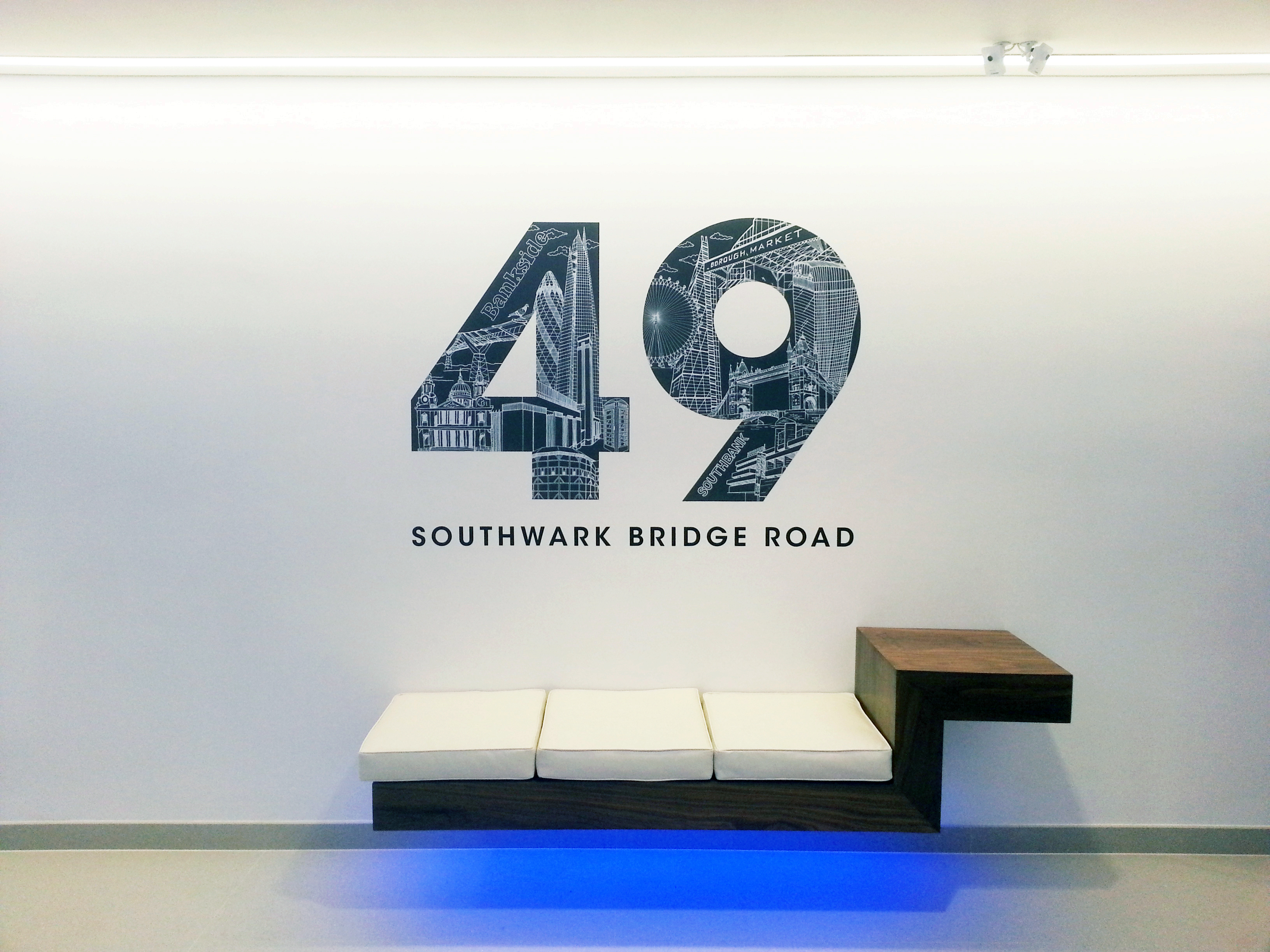 Reception wall vinyl - London
