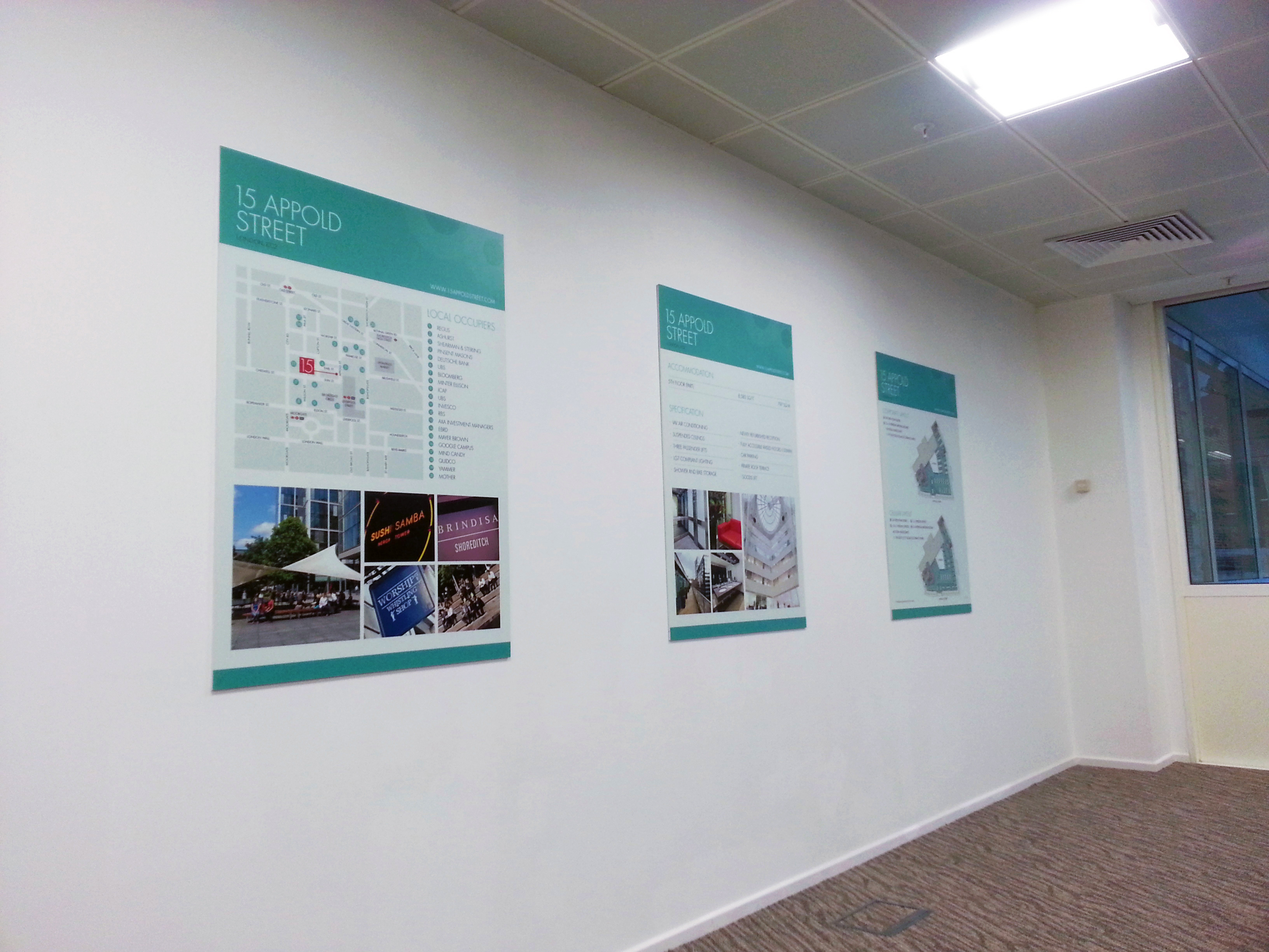 Wall mounted graphics panels