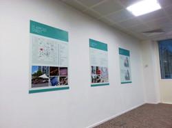 Wall mounted graphics panels