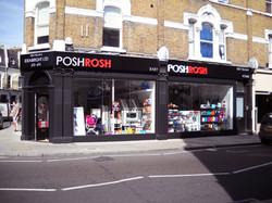 Retail fascia sign - Fulham