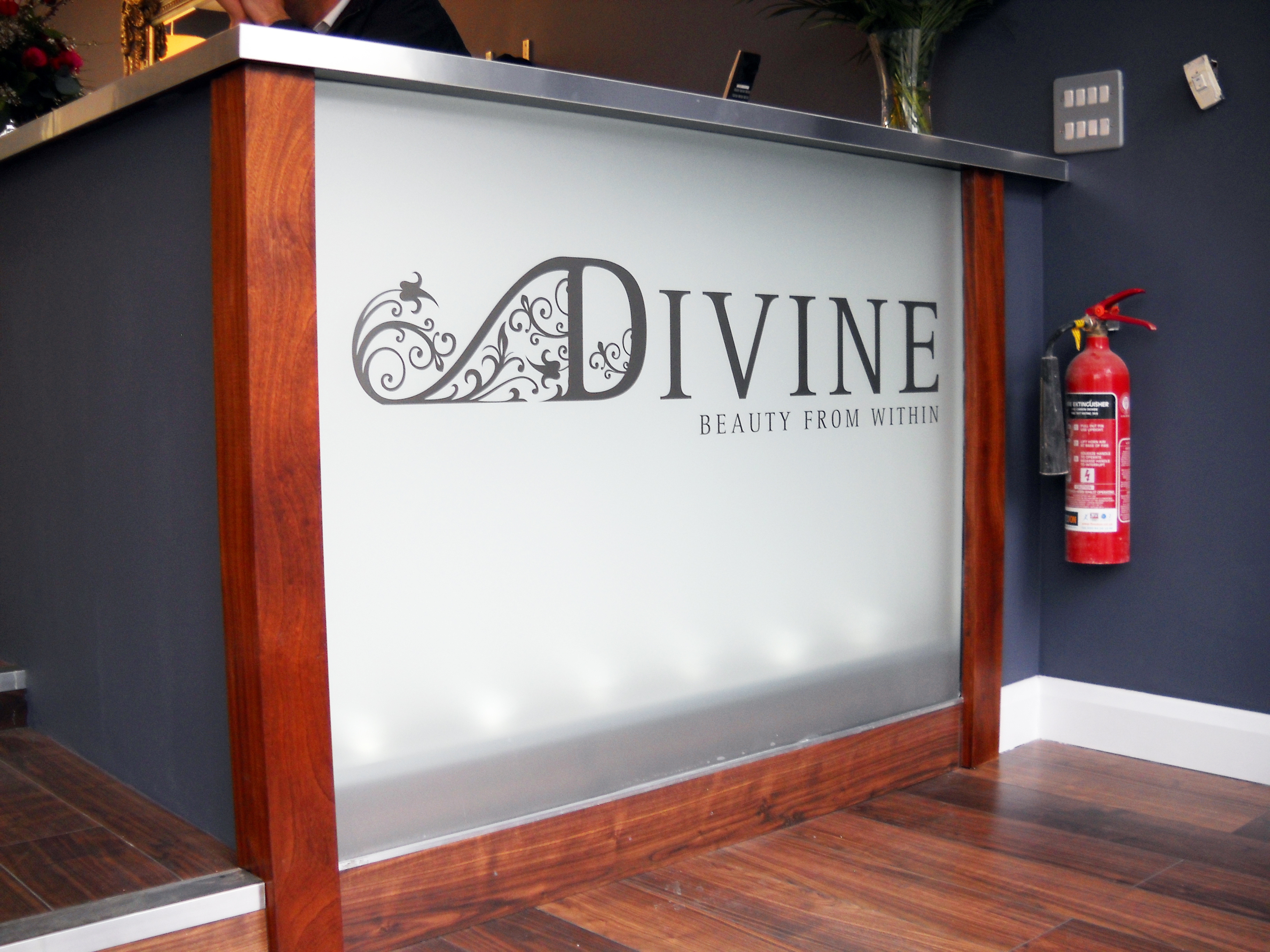 Retail counter sign - Northwood