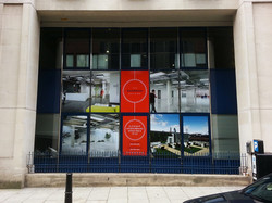 Large format printed window graphics