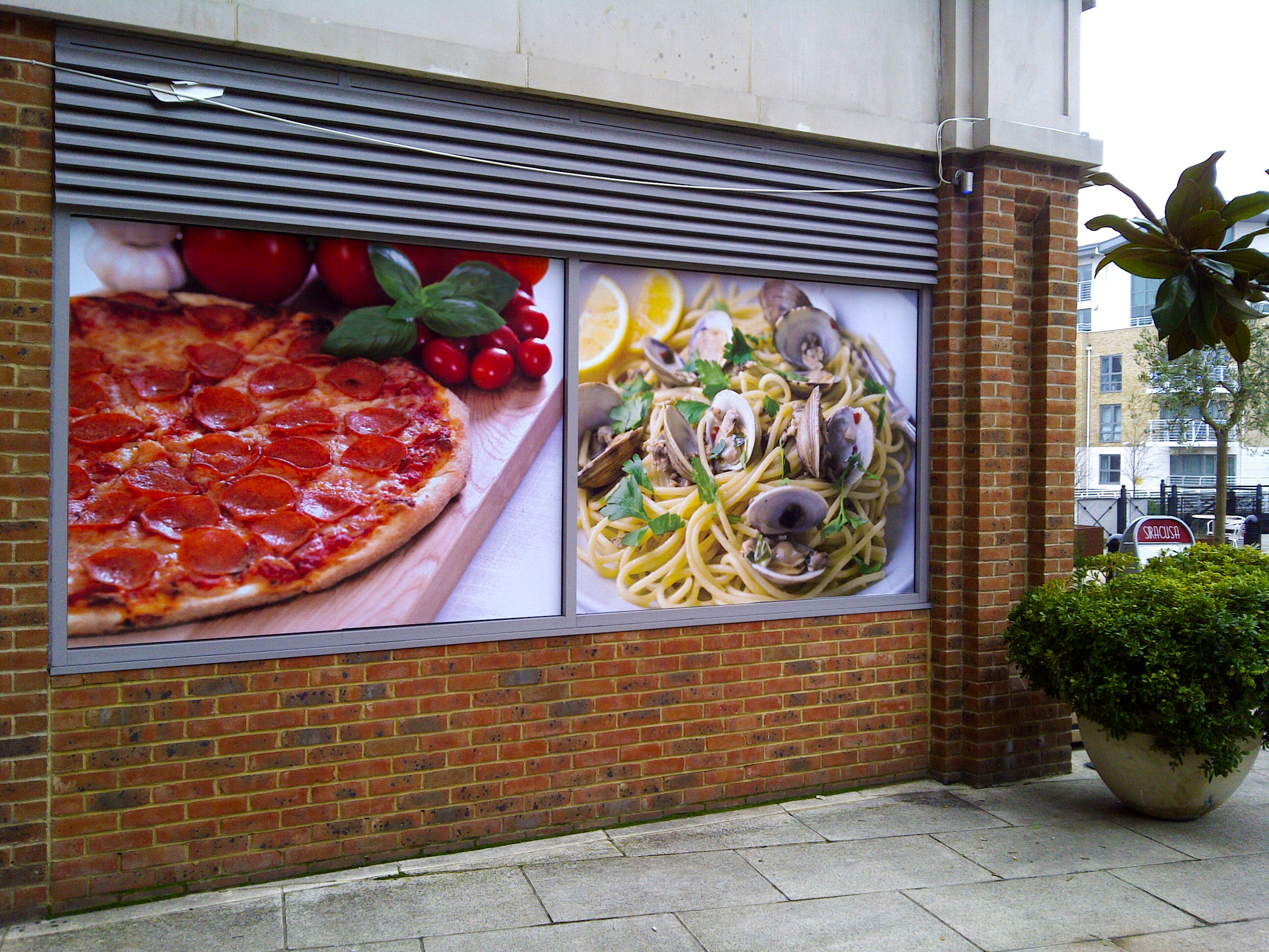 Restaurant window vinyl - Brentford