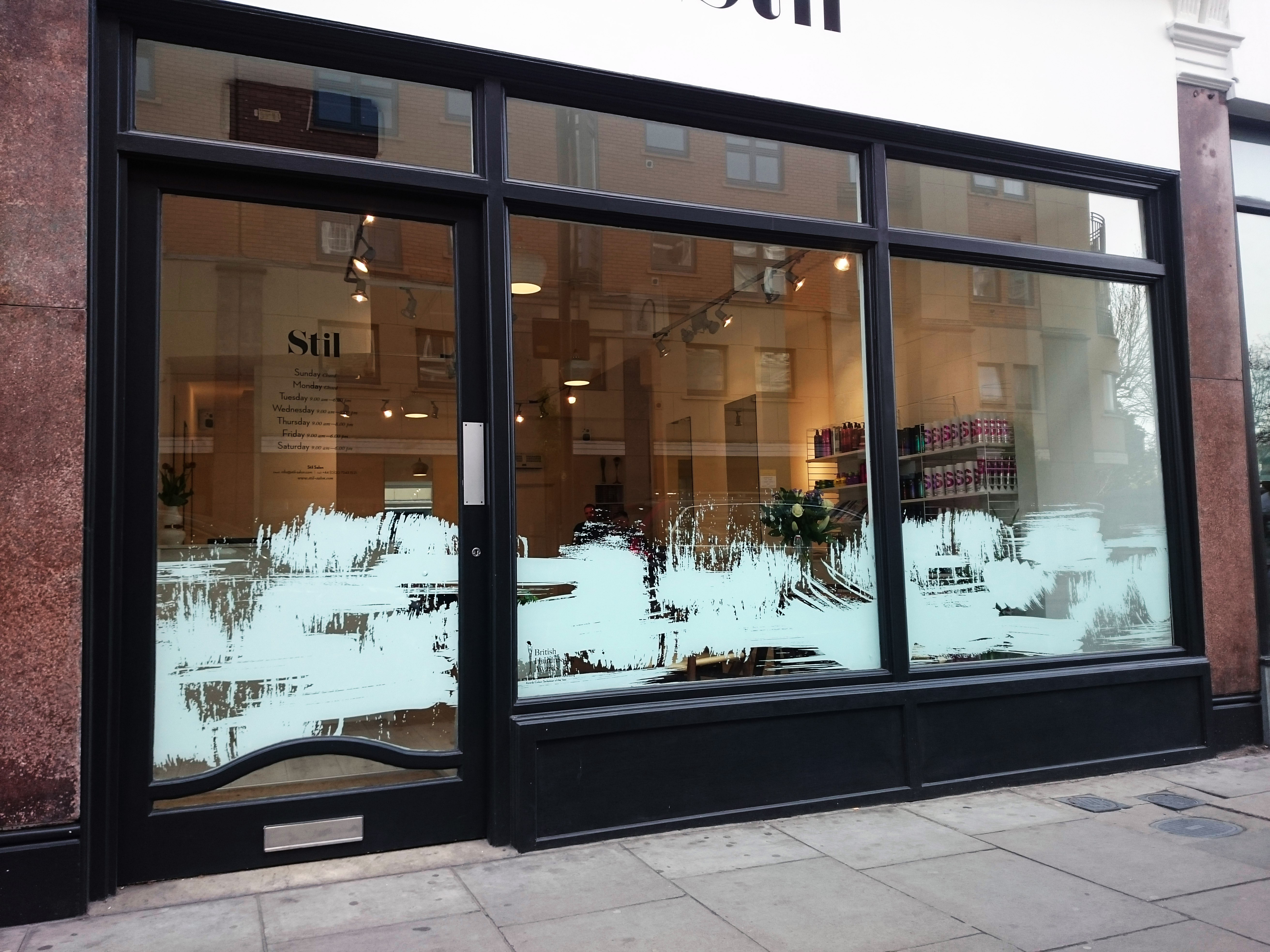 Shop front window graphics - London