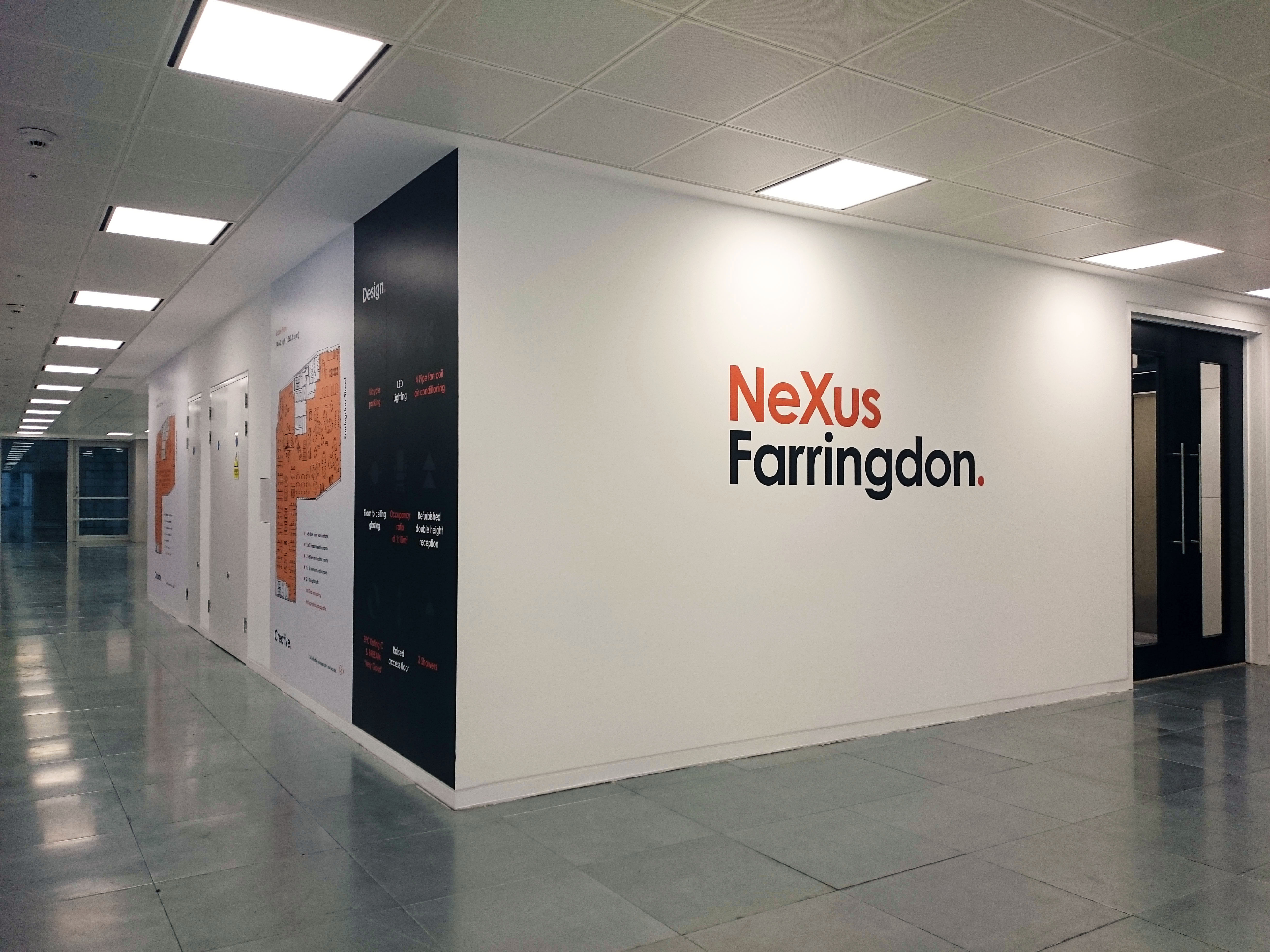 Commercial space wall graphics
