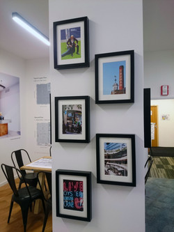 Photographic prints in frames