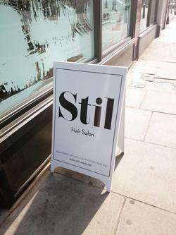 Pavement sign - Notting Hill