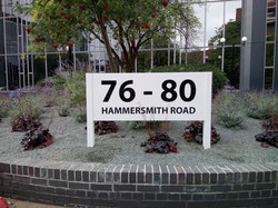 Post and panel sign - Hammersmith