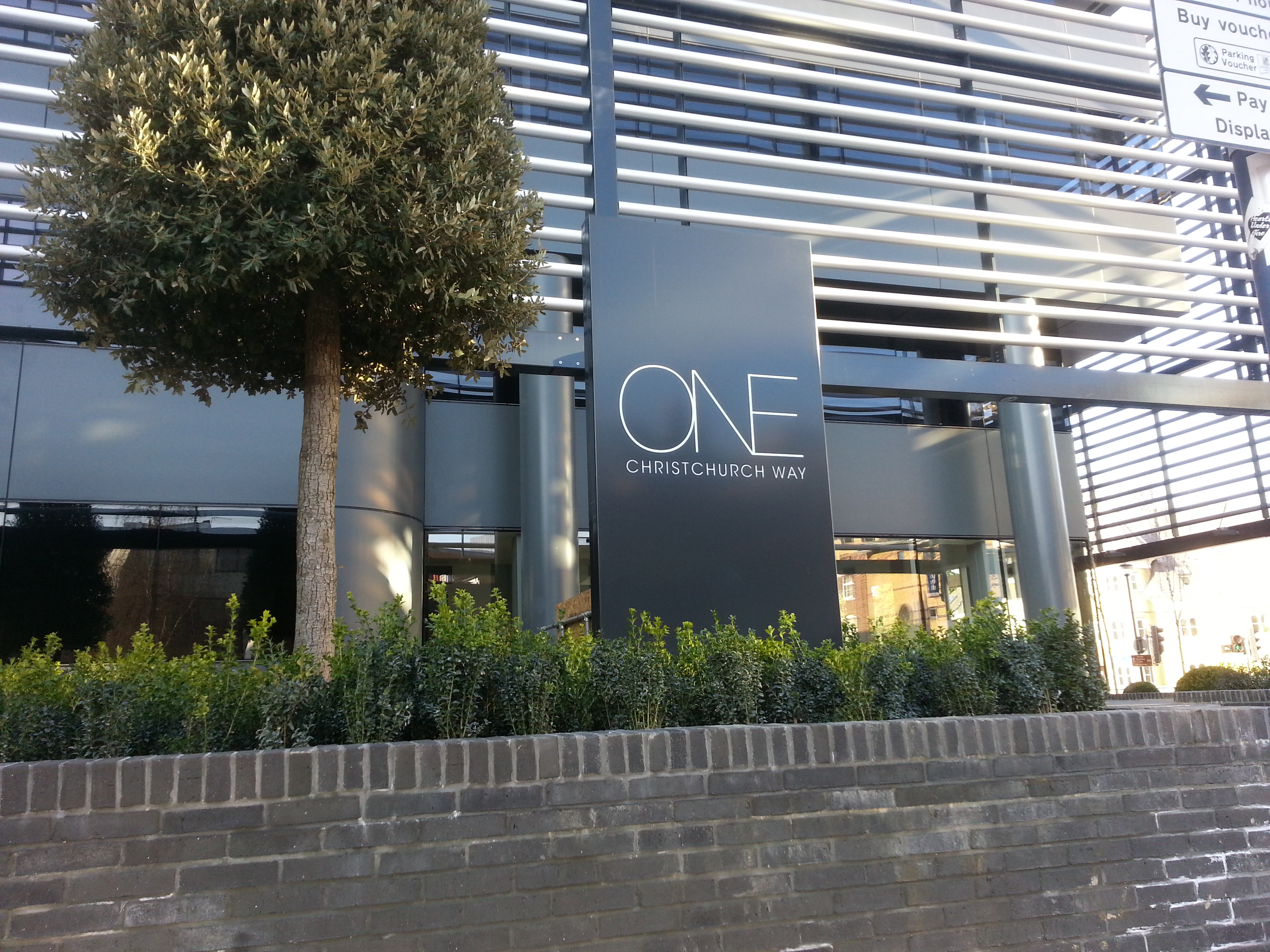 Office entrance sign - Woking