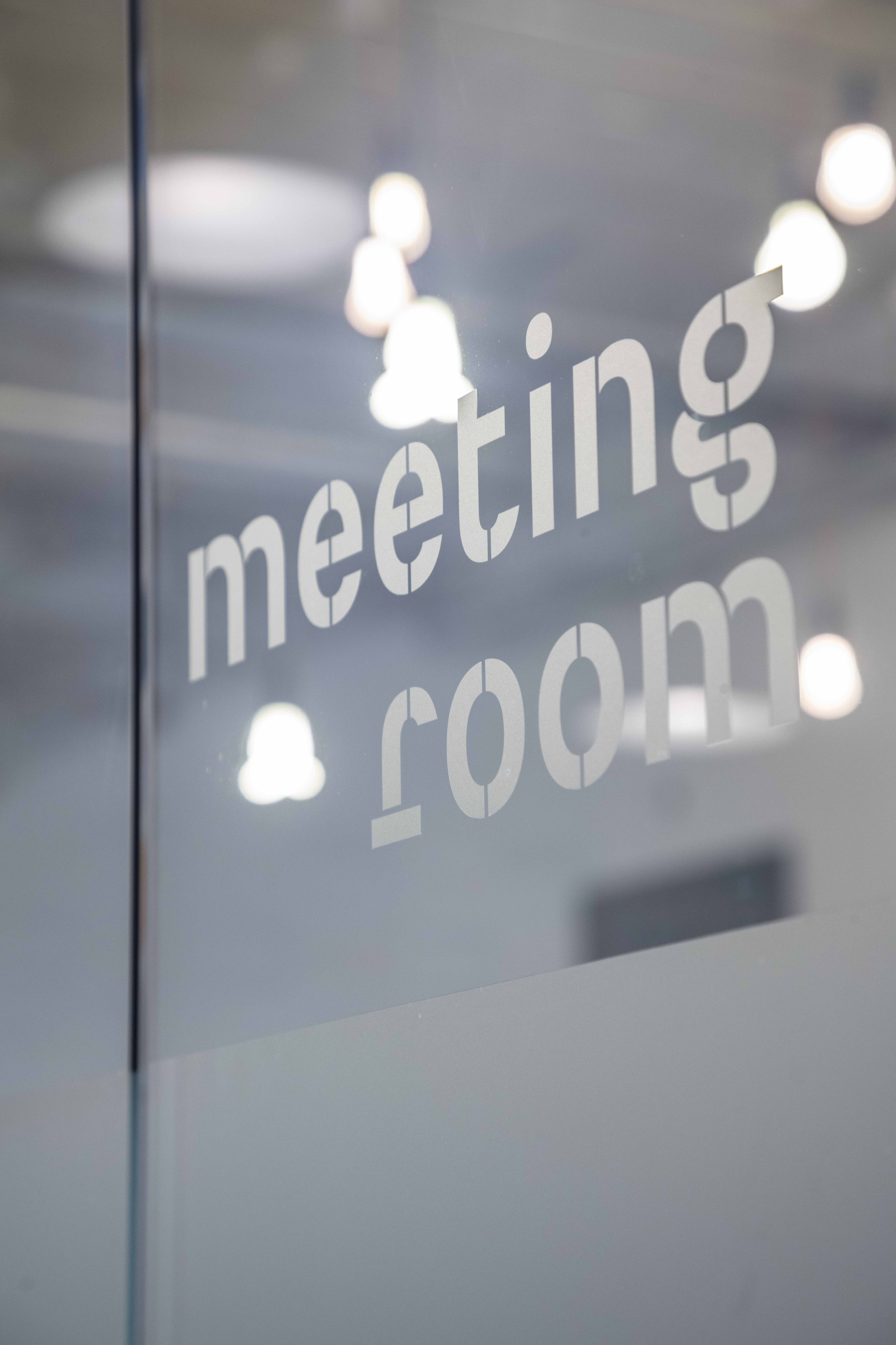 Meeting room vinyl text - Brixton