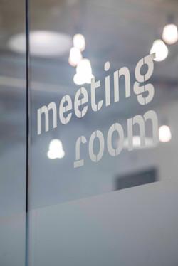 Meeting room vinyl text - Brixton