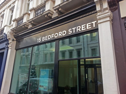 Office fascia sign - Covent Garden