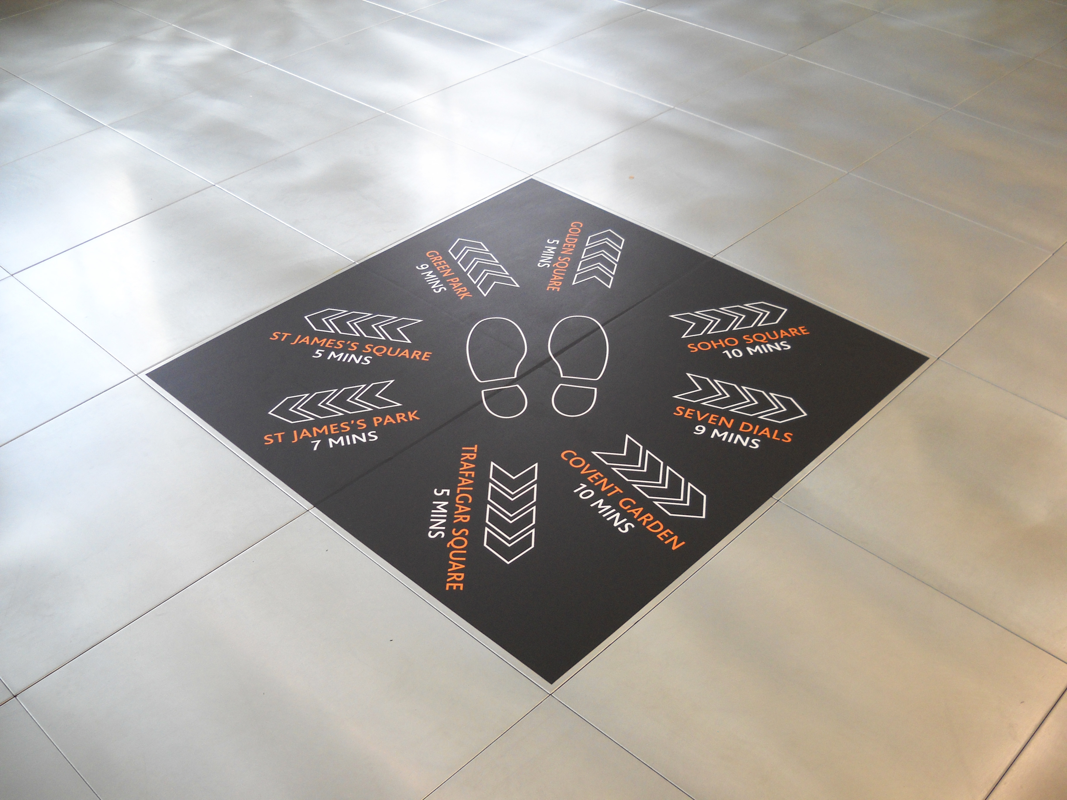 Floor graphics - London