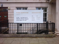 Site advertising sign - London