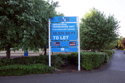 Industrial unit advertising sign