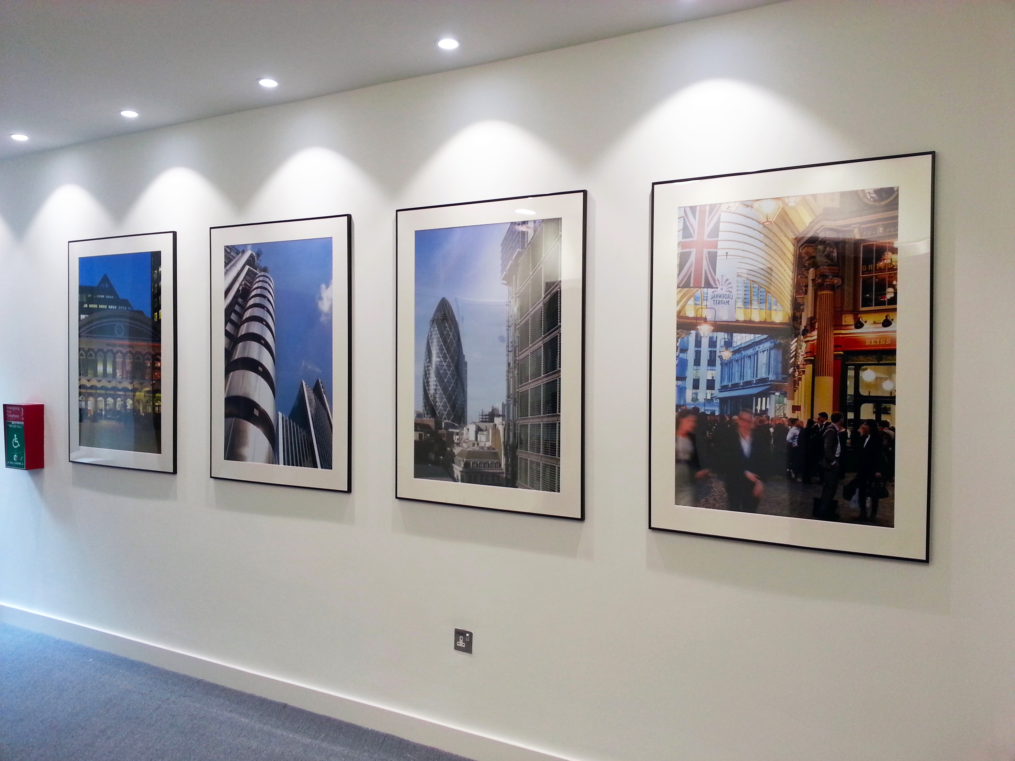 Frame mounted prints - London