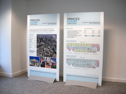 Commercial marketing display panels