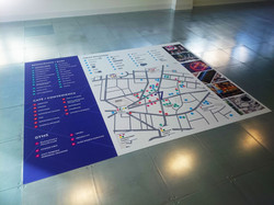 Large printed floor graphic