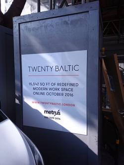 Hoarding advertising board - London