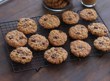 עוגיות שיבולת שועל ושוקולד צ'יפס