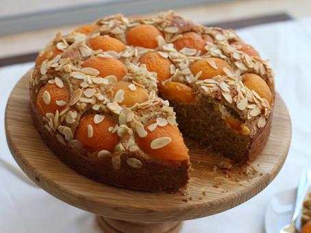 עוגת משמשים וריקוטה