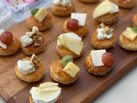 מאפים - עיגולי בצק עלים עם גבינות ותוספות