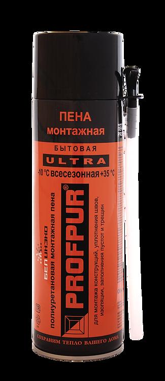 Пена монтажная PROFPUR ULTRA бытовая всесезонная, 500 мл