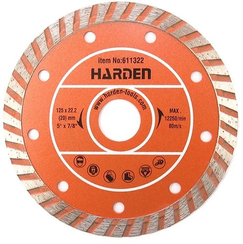 Диск алмазный Турбо HARDEN 125х22,2 мм сухая резка (611322), 11601302