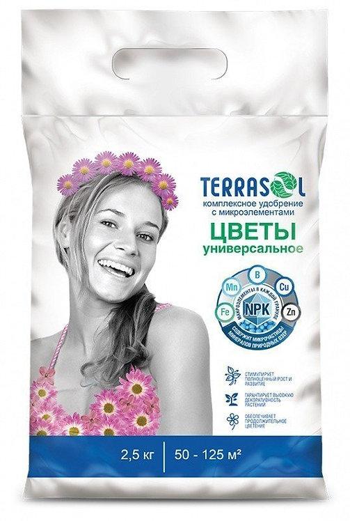 Удобрение TerraSol минеральное Цветочное тукосмесь 2,5кг  11603967