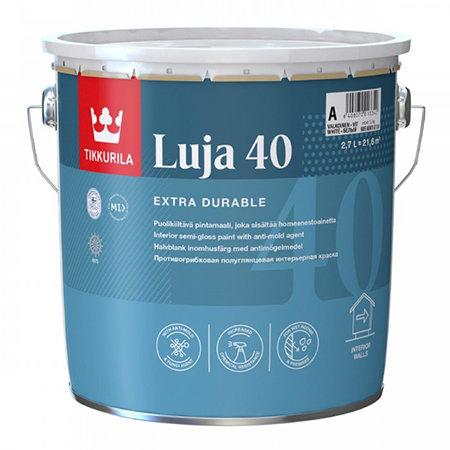 Краска антигрибковая TIKKURILA LUJA 40 для влажных помещений база С (2,7л) 3010