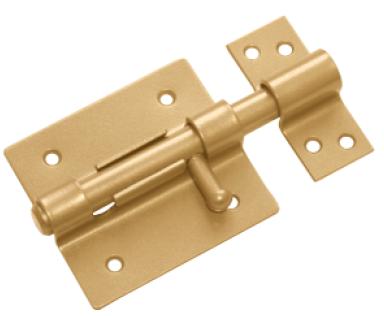Засов дверной ЗД- 80 золото (Балаково) DOMART,  54834