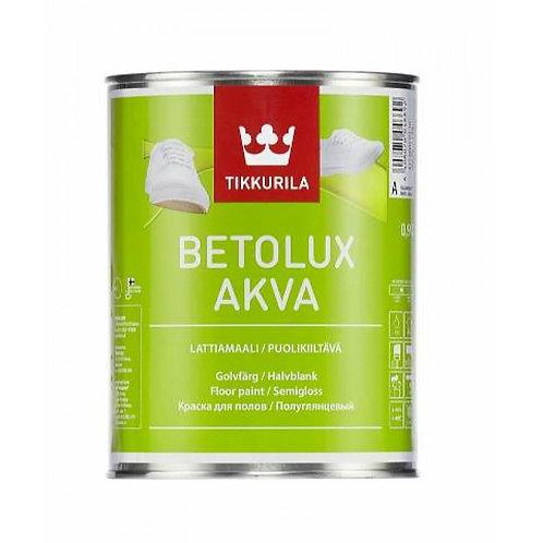 Краска для пола TIKKURILA BETOLUX AQUA полуглянцевая  база A 0,9 л 8272