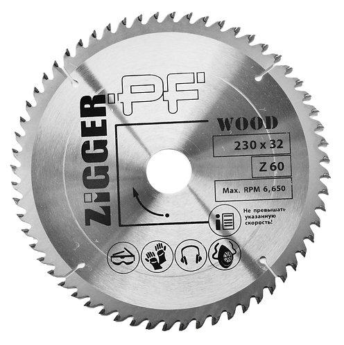 Диск пильный по дереву ZIGGER PF D230*d32*Z60