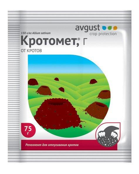 Родентицид для отпугивания кротов Кротомет AVGUST 75гр   584909