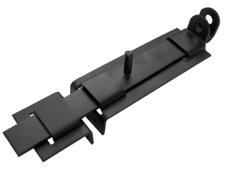 Засов плоский с проушиной ЗПП-350 мод.2 черный  (Балаково) DOMART,  11593795