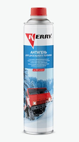 Антигель для дизельного топлива KERRY концентрат на 500л, 800мл KR-354, 11605577