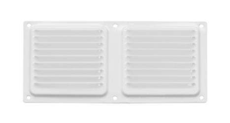 Решетка вентиляционная с сеткой 100х200 белый(Балаково) DOMART,  11593713