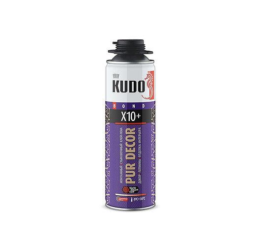 Клей-пена монтажный и стыковочный PUR DECOR X10+, 650 мл