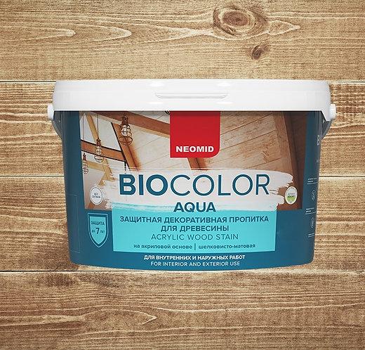 Защитная пропитка для древесины NEOMID Bio color Aqua, 2,3  л