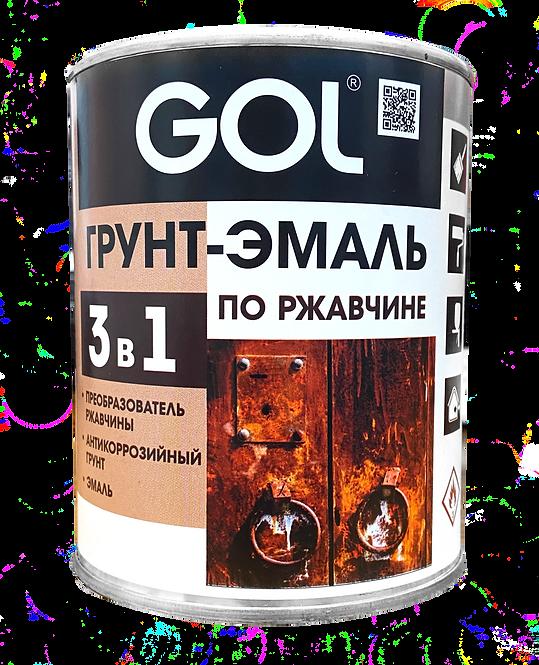 Грунт-эмаль 3в1 по ржавчине GOLexpert 0,8л,  красный 11605916